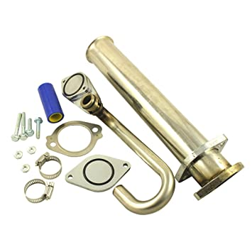 New Power Stroke Diesel Turbo eliminar EGR Kit para Ford F250 350 450 550 6.0L V8 03 - 07: Amazon.es: Coche y moto