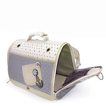Cómodo transportín para gatos y perros, ideal para avión, con suaves almohadillas laterales.: Amazon.es: Productos para mascotas