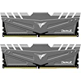 TEAMGROUP T-Force Dark Z 16GB Kit (2x8GB) DDR4 Dram 3600MHz (PC4-28800) CL18 288-Pin Desktop Memory Module Ram (Gray) - TDZGD