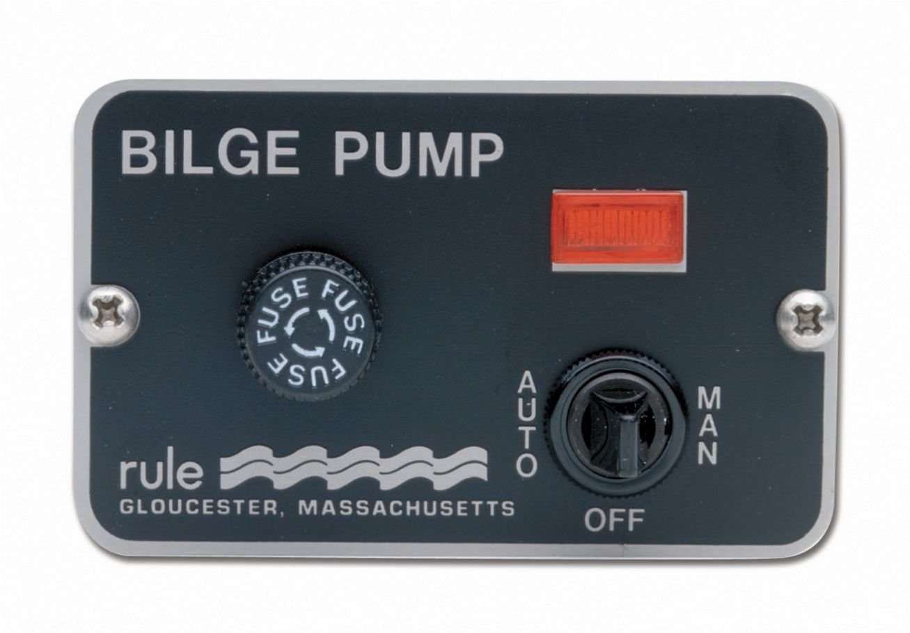 Rule 41 Marine Deluxe Panel Switch (12-Volt), Black, 3-1/4