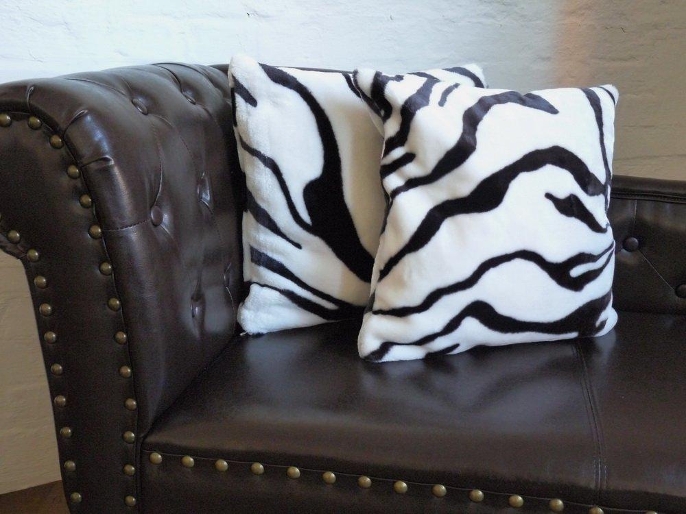 Set Kuscheldecke Tagesdecke Zebra 160x200cm 2 Kissen 40x40cm 3tlg