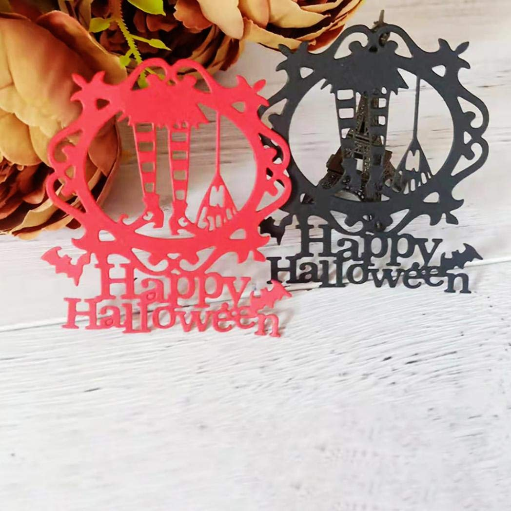 2020 New Die Cuts,dezirZJjx Halloween Witch Cutting Dies DIY Scrapbooking Paper Card Album Emboss Stencil