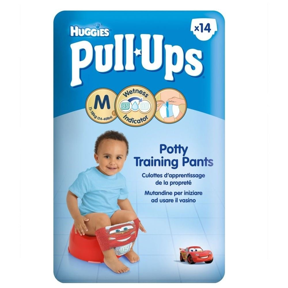 Huggies Pull-Ups Potty Training Pants for Boys Size 5 Medium 11-18kg (14) -  Pack of 2: Amazon.com: Grocery & Gourmet Food