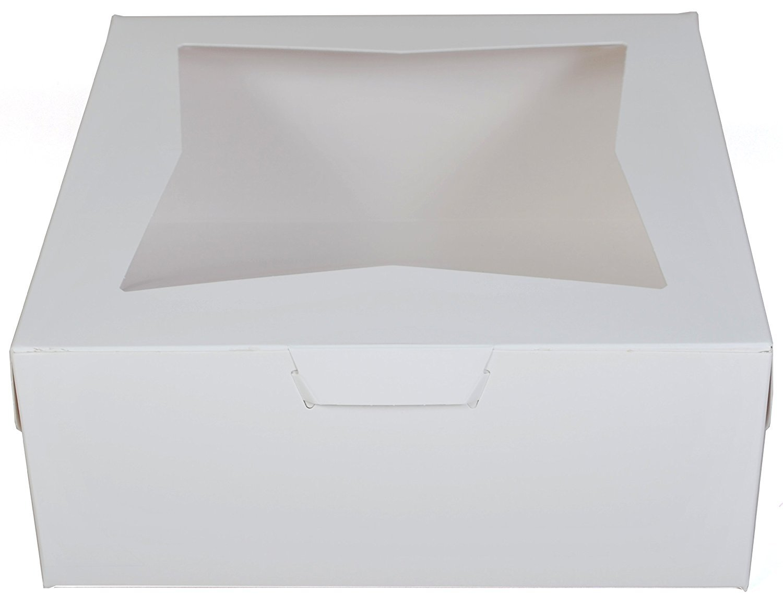 Pack of 10 WHITE 12x12x5 Window Bakery or Cake Box