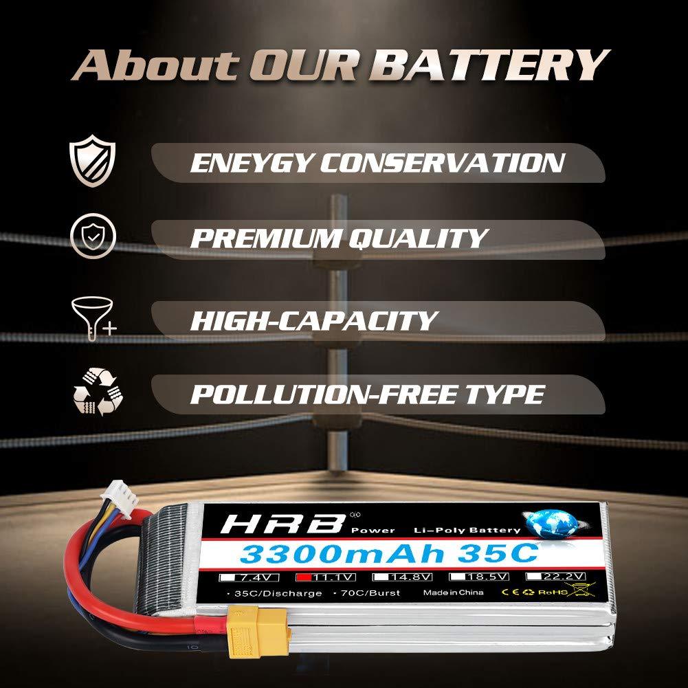 HRB Batterie 3S Lipo Batterie Lipo 5200mAh 50C 11.1 v RC Lipo con Spina Traxxas per RC Car Boat Truck Heli Airplane Hobby Drone e FPV