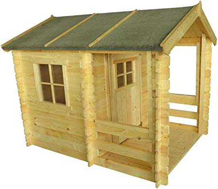 Niños casa de juguete – 1,75 x 1,30 metros de 19 mm listones – Jardín Hogar