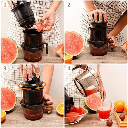 Exprimidor de cítricos manual de restaurante y cocina, exprimidor de exprimidor manual de limón y naranja exprimidor de frutas 100% jugo de vida saludable para niños
