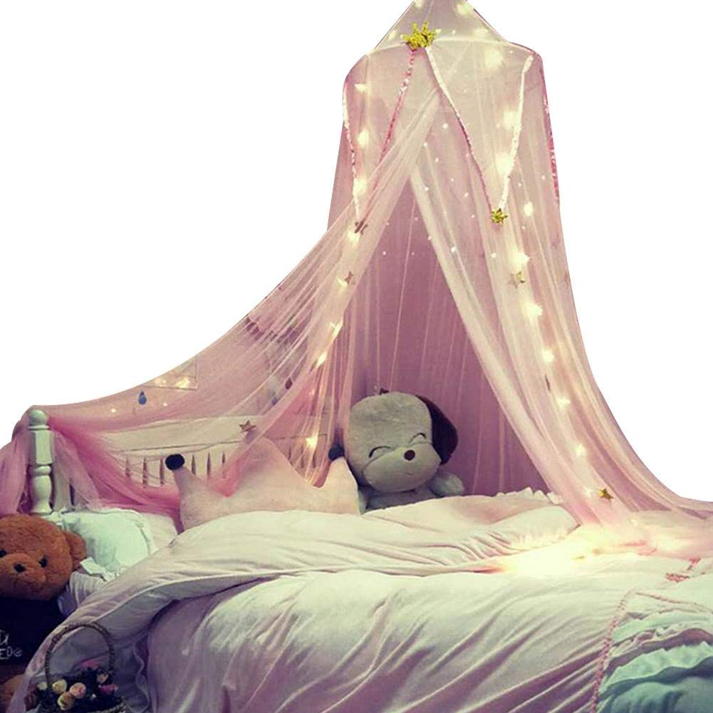 Lijuan Qin Baby Bed Canopy Round Dome Mosquito Net, Princess Bed Play Tent Nursing Room Decoration for Games House Playing Reading
