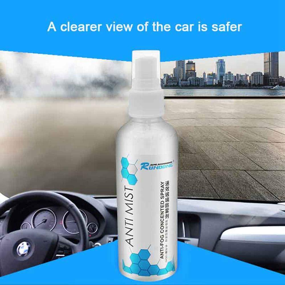 Agente antivaho para vidrio de automóvil, 100 ml cristal antifoggant en spray, antiempañamiento espejo retrovisor para ventana,parabrisas interior,cristal ...