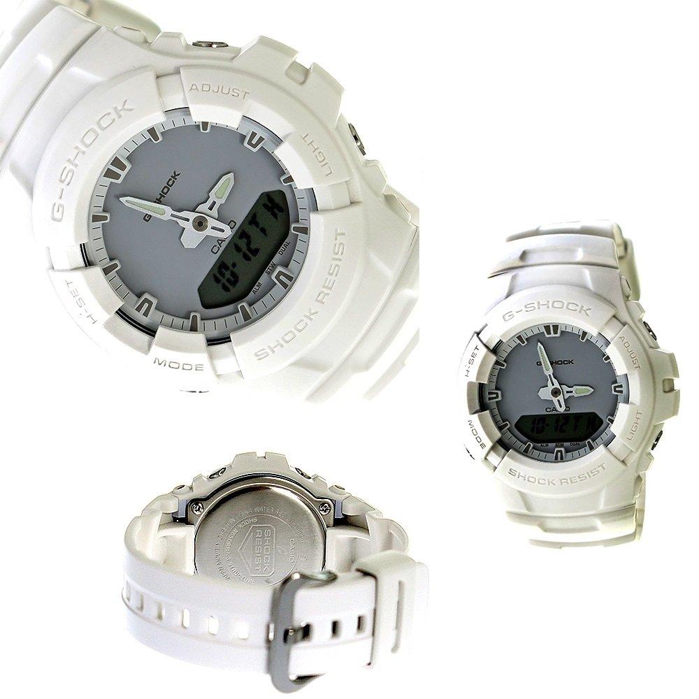 G-SHOCK 20気圧防水 アナデジ プラウォッチ メンズ向 (G-100CU-2A G-100CU-3A G-100CU-7A) (G-100CU-2A(ネイビー)) B076HQY4RP  G-100CU-7A(ホワイト)