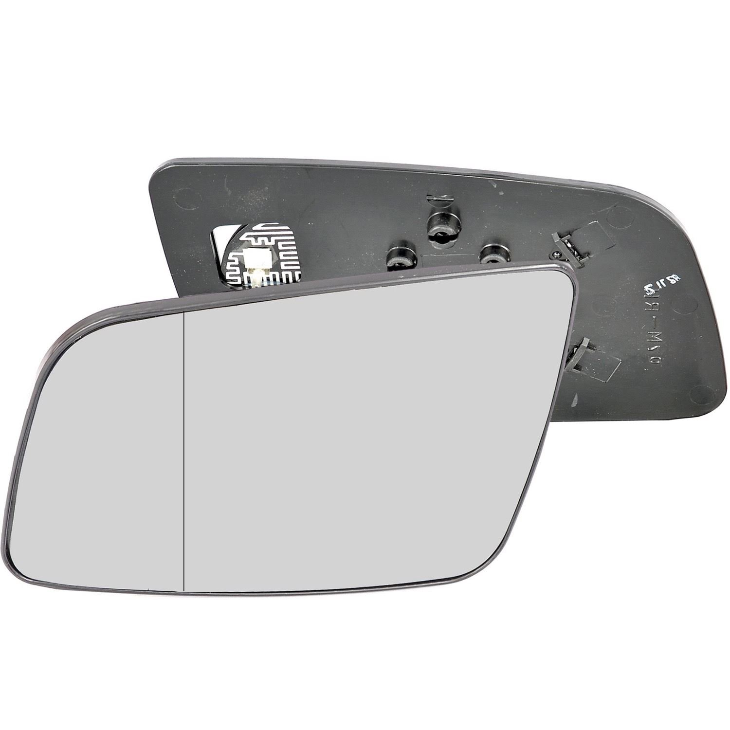 Passenger left hand side Heated wing door Silver mirror glass with backing plate #W-SHY//L-OLASAG98 Clip On