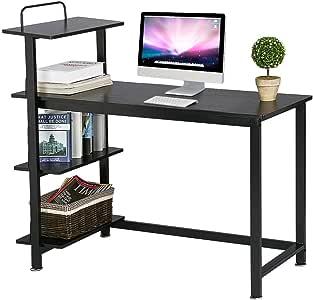 Yaheetech Mesa para Ordenador Escritorio de Oficina Trabajo Mesa ...