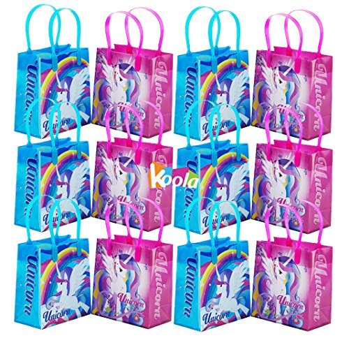 12pcs Magical Unicorn Party Favor Goody Loot Gifts Candy Bags Assorted