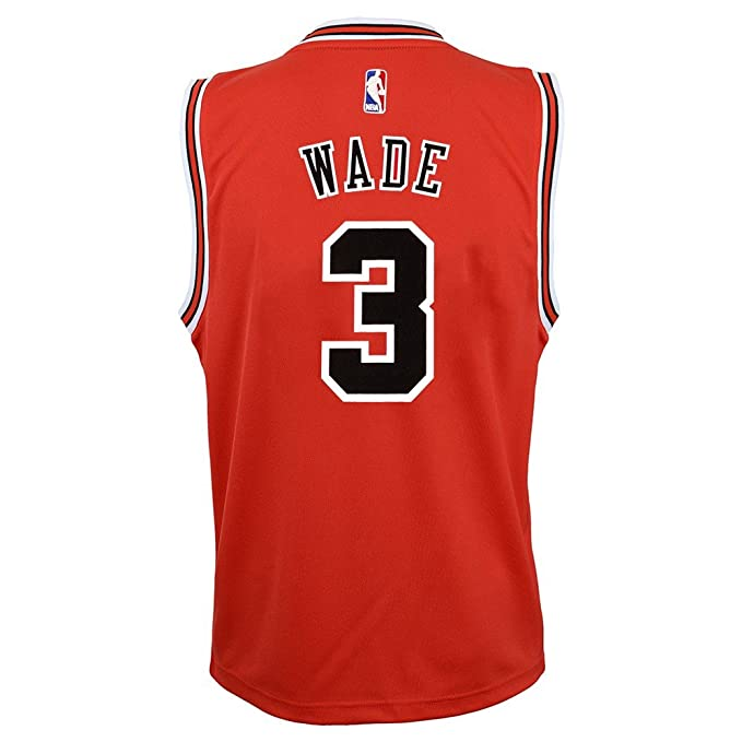 Outerstuff Dwyane Wade NBA Chicago Bulls Official Road Red Player Replica  Jersey Youth S-XL 1b5a18090
