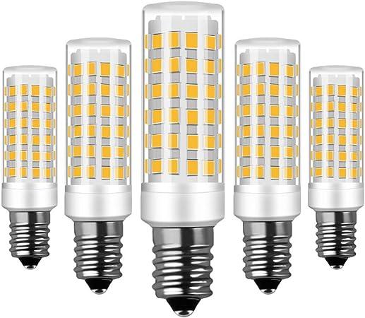 RANBOO E14 Bombilla LED 9W incandescente Equivalente a 75W 750lm Blanco Cálido 3000K AC220-240V No Regulable Lot de 5: Amazon.es: Bricolaje y herramientas