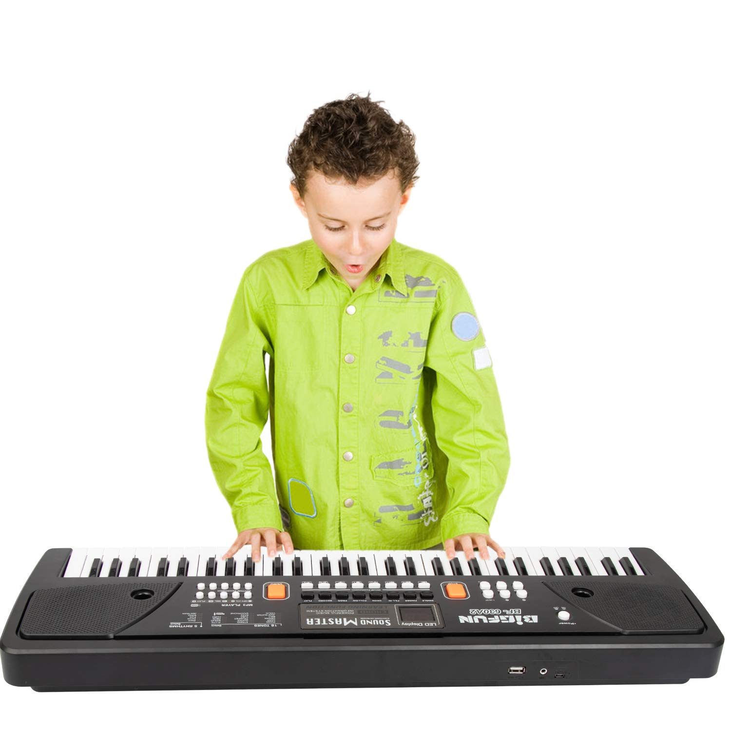 Digital Music Keyboard Piano, JINRUCHE 61 Keys Kids Piano Portable Electronic Keyboard Musical Instrument Multifunction Early Learning Educational Toy by JINRUCHE (Image #7)