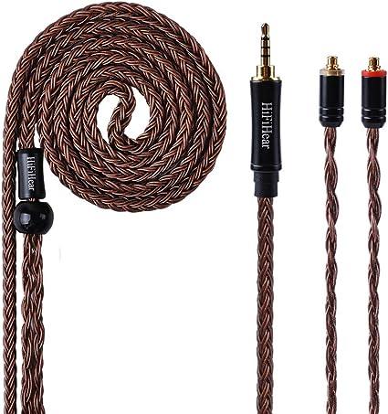 Cable Desmontable de Repuesto Chapado en Plata y Cable MMCX 2Pin 2.5mm Cable de Repuesto Yinyoo de 16 n/úcleos