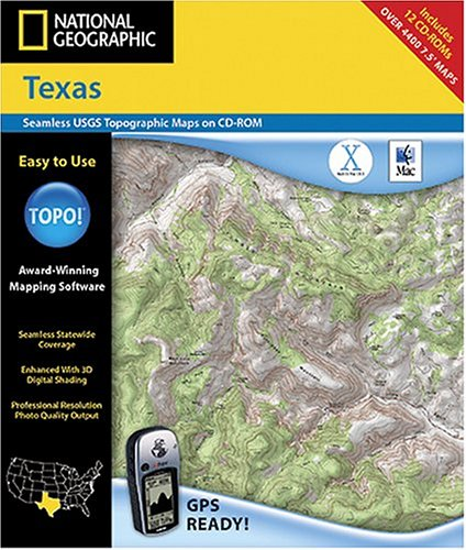 National Geographic TOPO! Texas Map CD-ROM (Mac)