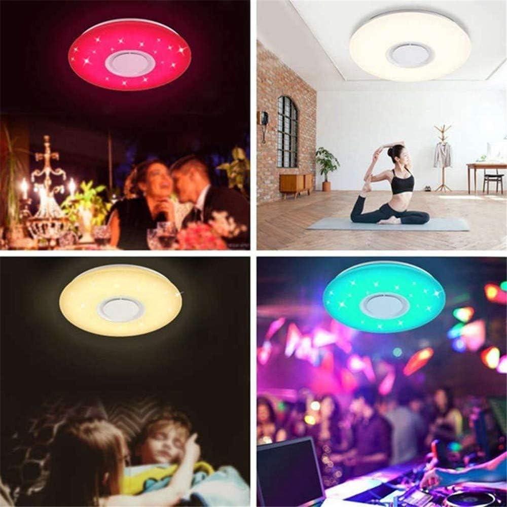 Smart Musik LED Deckenleuchte, LED Deckenleuchte Mit Bluetooth-Lautsprecher 24/36 /60W RGBW Dimmbar Deckenlampe Mit Fernbedienung Bluetooth App Control,24w 36w
