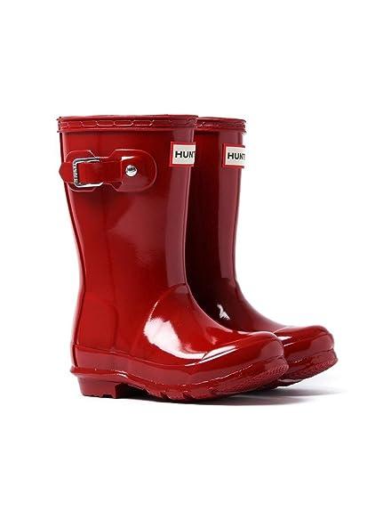 belle qualité meilleures offres sur variété de dessins et de couleurs Hunters Wellies Bottes Wellington Boots brillant - Rouge ...