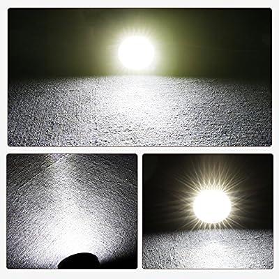 LED Light Bar AKD Part 2pcs 5 inch 96w Round LED Offroad Light Pods Spot Flood Combo Work Light Off Road Driving Light Fog Lights Waterproof for Trucks Jeep ATV UTV SUV Pickup Boat: Automotive