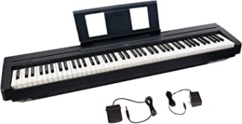 Yamaha P45 88-Key Digital Piano with Sustain Pedal and Power Supply