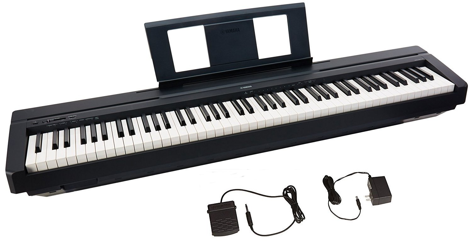 digital keyboard reviews  - Yamaha P45 88-Key Weighted Action Digital Piano with Sustain Pedal and Power Supply