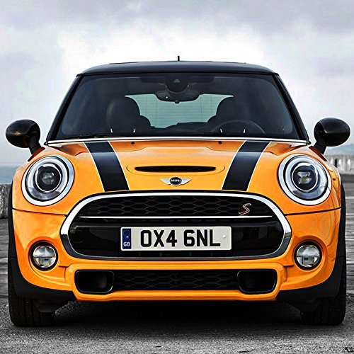 Auto Hood Bonnet Sticker Decal for BMW MINI Cooper (Black with White ()