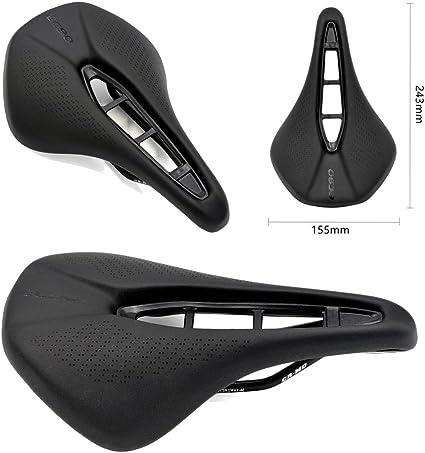 EC90 Bicycle Saddles Road Mountain Bike Cycling Hollow Seat Cushion Black