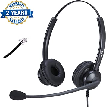 Amazon Com Yealink Compatible Telephone Headset Office Phone Headset With Noise Cancelling Microphone For Panasonic Kx T7225 Kx Hdv130 Sangoma Snom 320 821 Grandstream 2160 2170 Etc Office Products