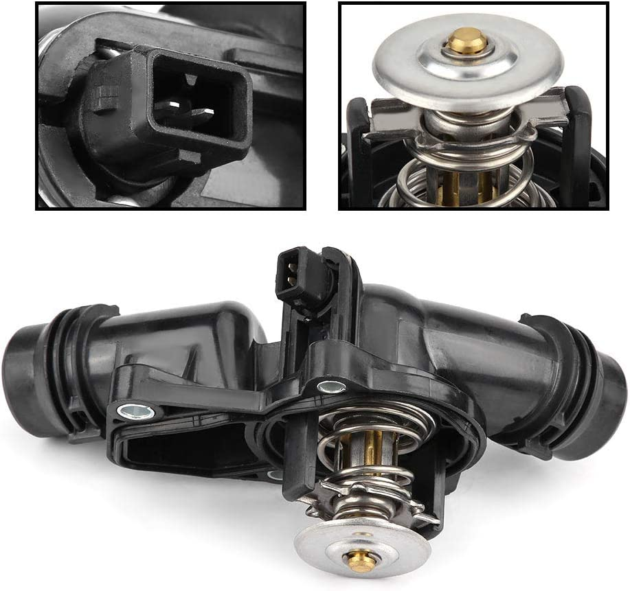 Professional Car Engine Coolant Thermostat for E46 318 320 323 325 328 330 11531437040 Greensen Thermostat Car Engine Coolant Thermostat with Housing Assembly