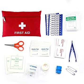 35b2bdbd83fc Youth First Aid Kit, Portable Gym First Aid Kit 2018 Dorm Home First Aid Kit