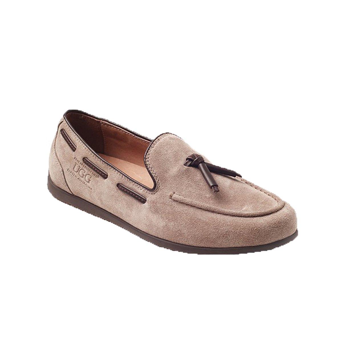 Ozwear UGG Men's Comfort Drawstring Peas Shoes Loafer Flats ,Khaki AU 11M/EU 45/ US11/ UK10.5