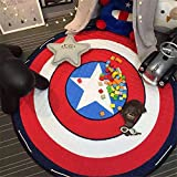 INCX Kids Play Mat/Rugs and Toy Organizer Storage Cotton 58x58 Inch Captain America