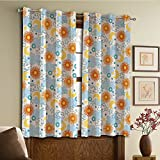 Custom design curtains/Vintage Lace Window Curtain/Grommet Top Blackout Curtains/Thermal Insulated Curtain For Bedroom And Kitchen-Set of 2 Panels(th Clouds Suns Stars and Moons Swirled Celestial) Review
