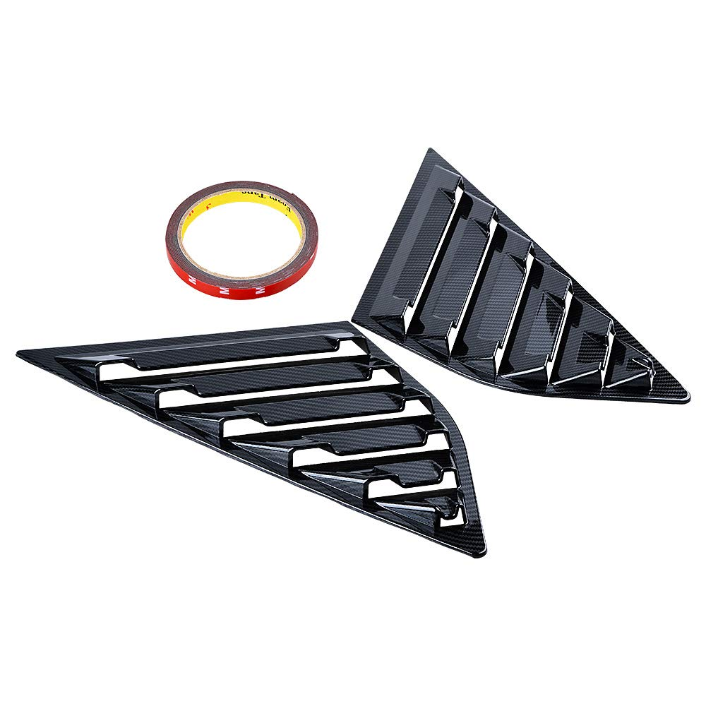 Astra DepotS 2PCS Window Side Louvers Vent ABS Car Side Window Cover for Ford Focus ST RS 2013-2018 Hatchback (Carbon Fiber Pattern)
