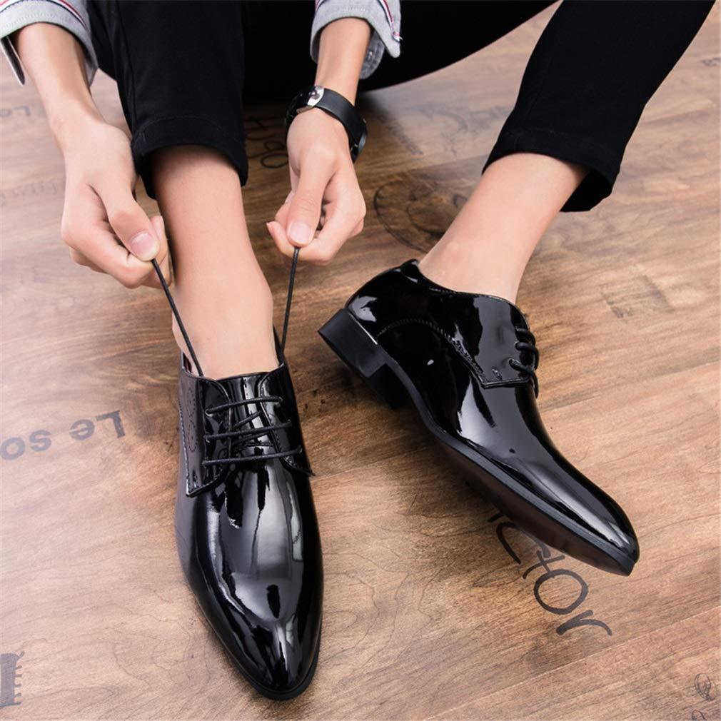 YAN Herren Schuhe Schnürverschluss Schuhe Befestigung Leder Oberen Formellen Schuhe Schnürverschluss mit Punch Atmungsaktiv Herbst & Winter lässig Party & Abend C 56795d