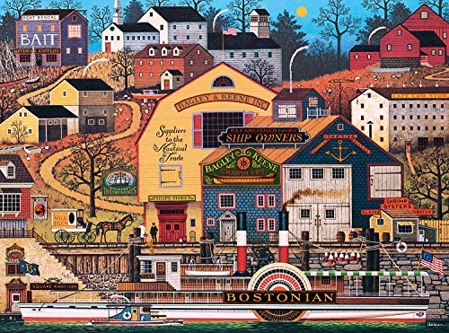 Buffalo Games - Charles Wysocki - The Bostonian - 1000 Piece Jigsaw Puzzle (Puzzle Pieces Games)