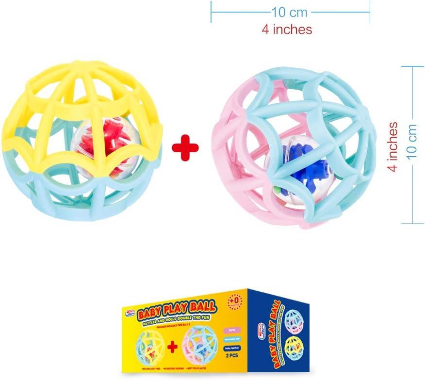 Font un Petit Bruit et Roulent pour plus de Fun S/écuris/é pour Tous les Ages. Balles de Jeu pour B/éb/és et Tout-Petits