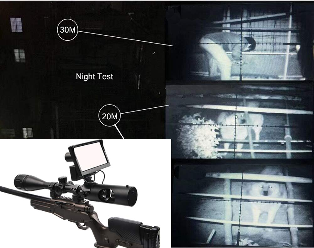 Digital Night Vision Scope for Rifle Hunting with Camera and 5'' Portable Display Screen by bestsight (Image #5)