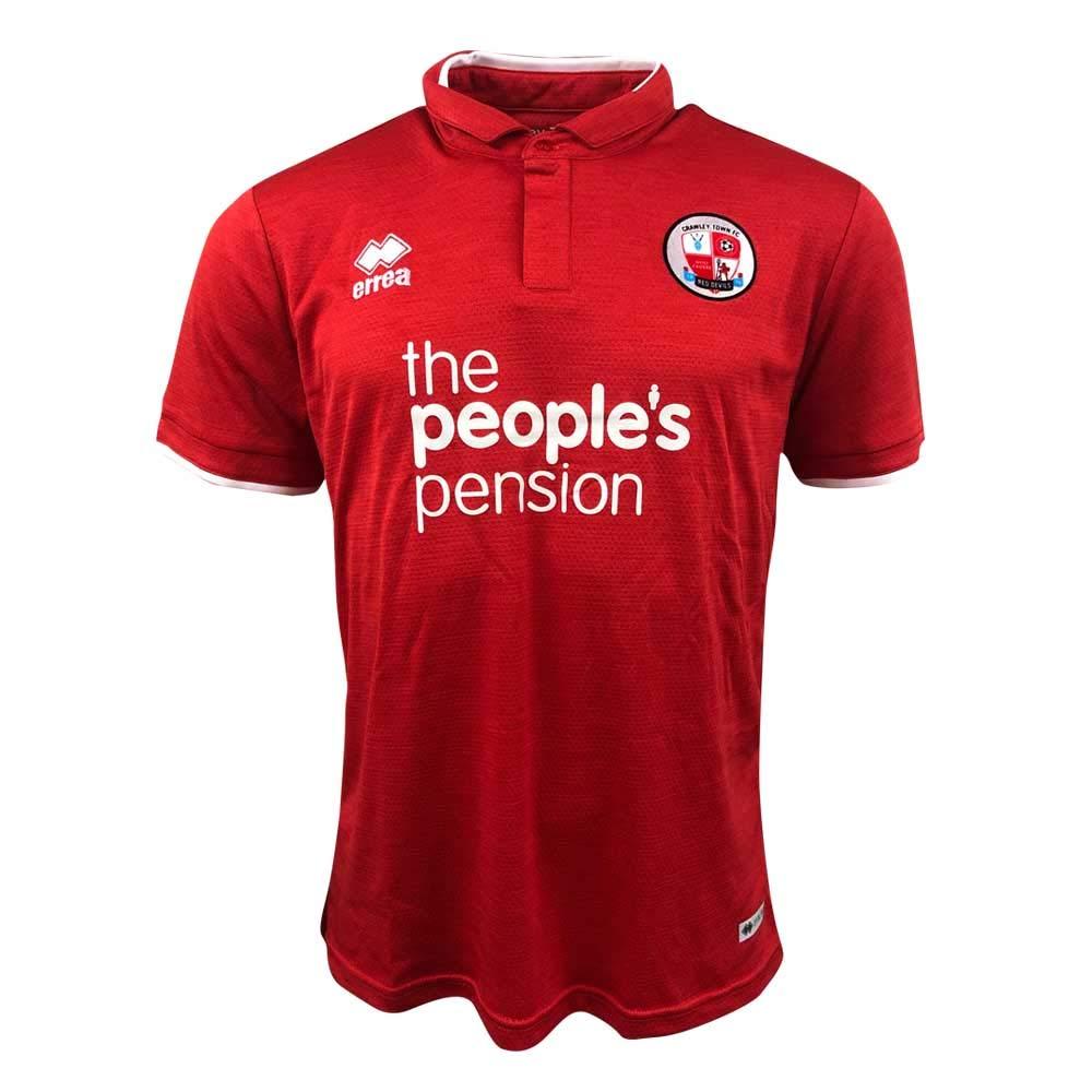 Errea 2018-2019 Crawley Town Home Football Soccer T-Shirt Trikot