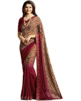 Tagline Women's Clothing Saree Collection in Multi-Colored Georgette For Women Party Wear,Wedding With Blouse Piece