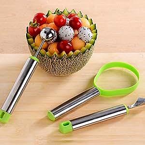 B&Y Stainless Steel Fruit Peeler Multi-functional Tool 3Pack