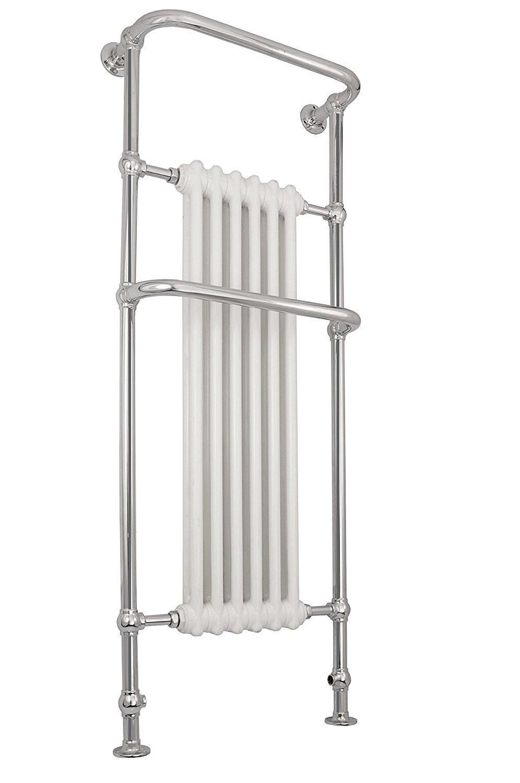 Luxury Traditional Victorian Chrome Heated Bathroom Towel Rail Radiators high output