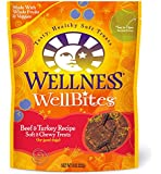 Wellness WellBites Beef & Turkey Natural Soft Dog Treat Biscuits, 8-Ounce Bag