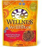 Wellness WellBites Soft Natural Dog Treats, Beef & Turkey, 8-Ounce Bag