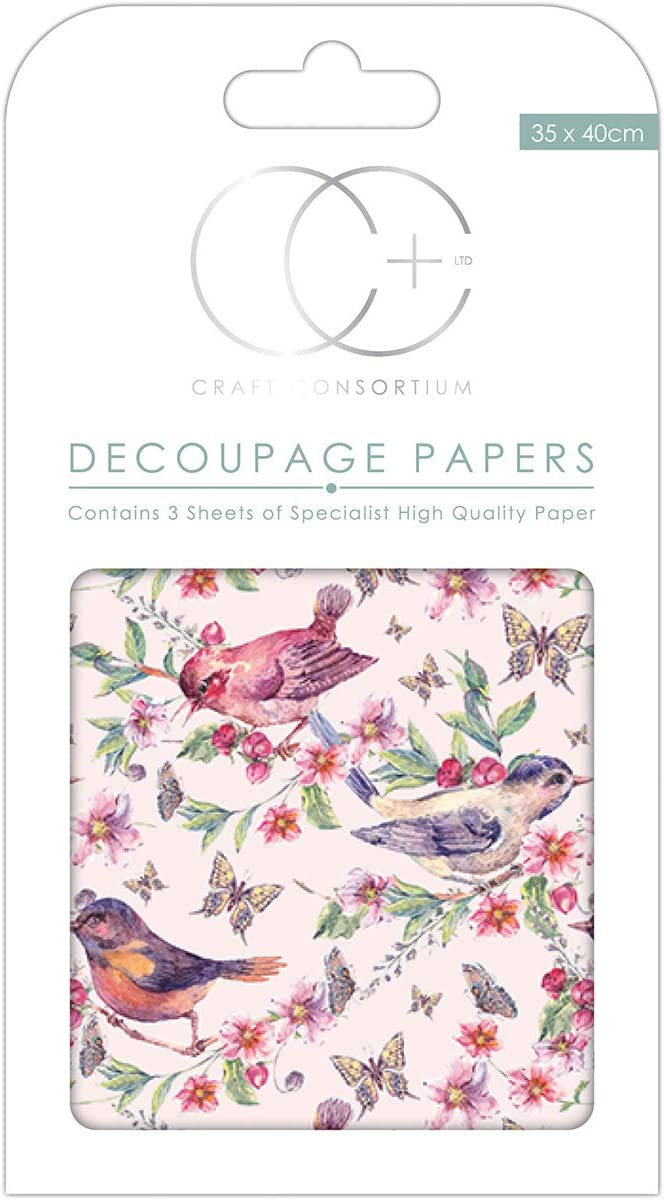 Craft Consortium DECP307 Decoupage Papers 13.75X15.75 3//Pkg Daisy