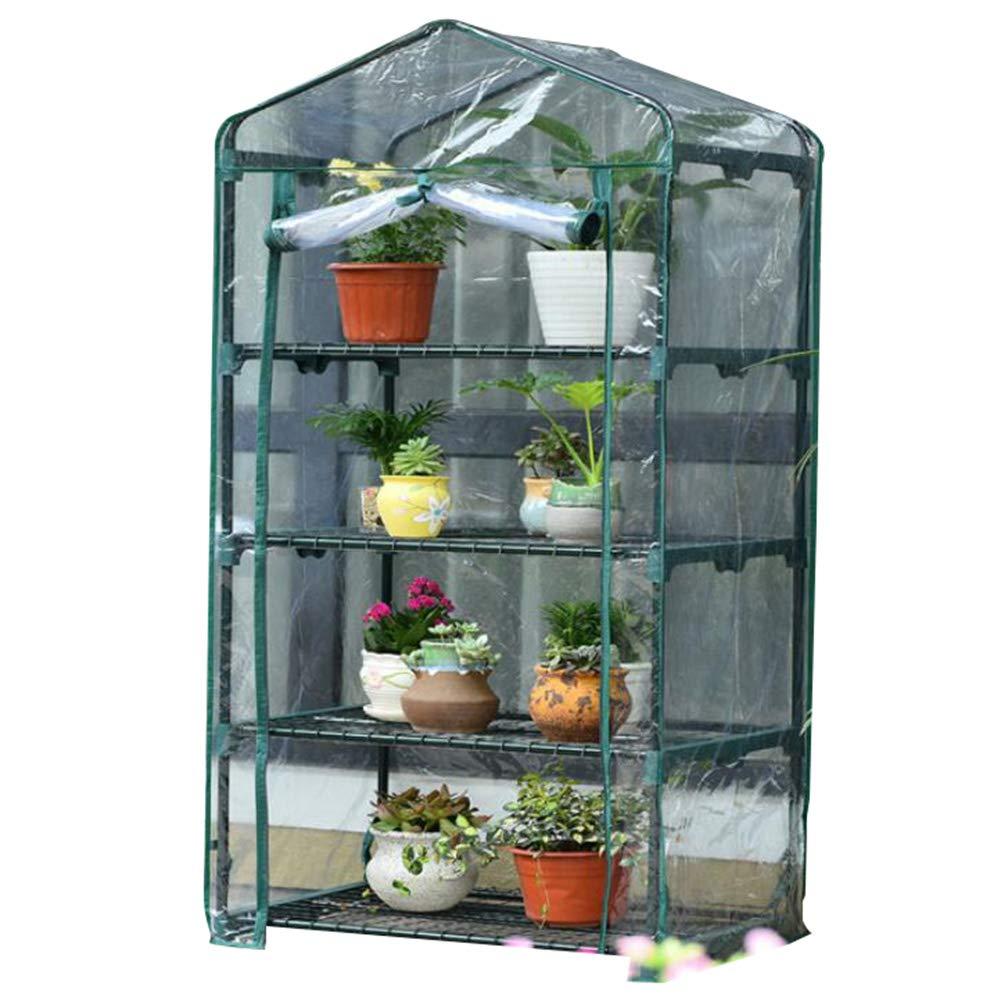 Clear 69x49x158cmHAIPENGHE Garden Hothouse Plant Growing Verdure Cold Frames Plastic PVC Cover Portable Outdoor (colore:Clear, Size: 6x49x118cm)
