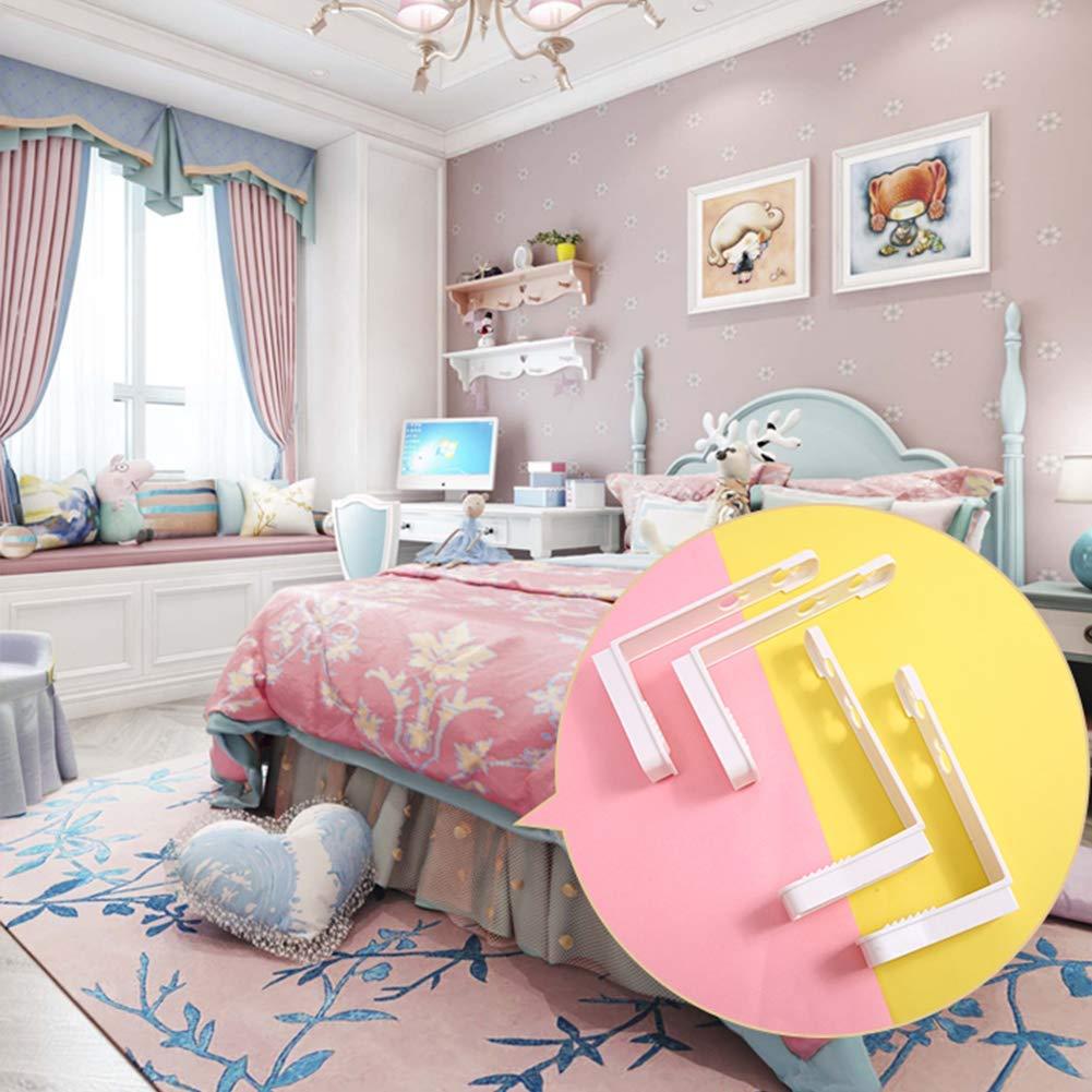 B/ügelbrettbezug und mehr Spannbettlaken 4pcs, Pink verstellbar f/ür Flachbettlaken Rutschfester Matratzenschoner-Clip strapazierf/ähiger Kunststoff LGD Bettlakengreifer-Clip-Set