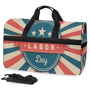 d2c8e4a3b9153f Amazon.com | Gym Bag Unique Labor Day Pictures Sport Travel Duffel ...